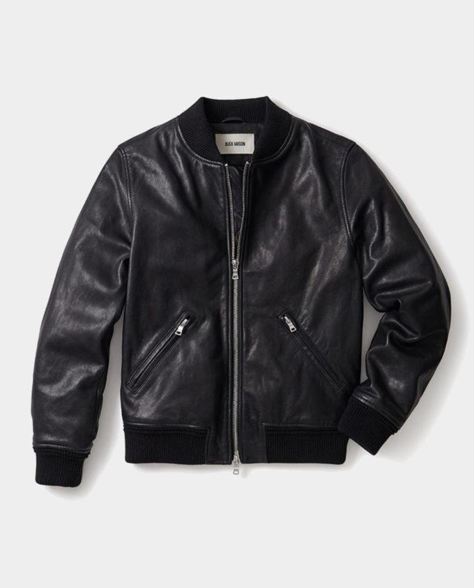 Buck Mason Bruiser Bomber Mens Leather Jacket